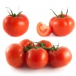 Red tomato collection isolated on white — Stock Photo #26057845