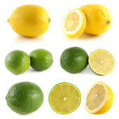 Lemon, lime collection isolated on white — Stock Photo
