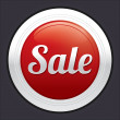 Sale button. Vector red round sticker. — Stock Vector