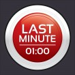 Last minute sale button. Vector round sticker. — Stockvectorbeeld