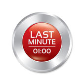 Last minute button. Special offer icon (sticker) — Stockvector