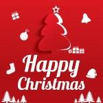 Christmas Greeting Card. Christmas tree. Eps10. — Stock Vector
