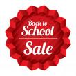 Back to school sale. Sticker with texture. — Stockvektor