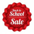 Back to school sale. Sticker with texture. — Vector de stock #30929353