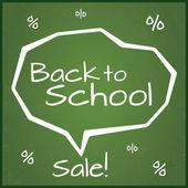 Torna a vendita scuola, vettoriale illustrazione. Eps10. — Vettoriale Stock