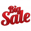Big sale sign isolated (icon). — Stock Photo #30993237