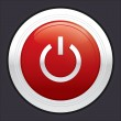 Power button. Red round sticker. — Zdjęcie stockowe