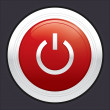 Power button. Red round sticker. — Stock Photo