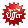 Special offer tag. Red sticker. Icon for sale. — Stock Photo #30993375