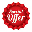 Special offer price tag. Star sticker. — Stock Photo