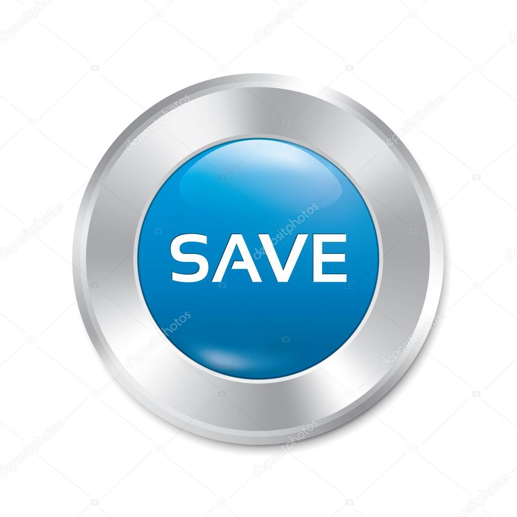 save button save red round sticker isolated � stock