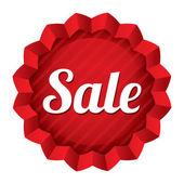 Sale price tag. Red round star sticker. — Stock Photo