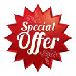 Special offer price tag. Icon for sale. — Stock Photo