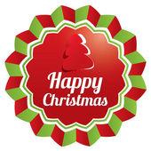 Christmas Greeting sticker. Christmas banner. — Stock Photo