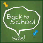 Back to school sale. Speech Bubble. — Stock Photo