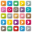 Arrow sign icon set. 25 Flat buttons for Web. — Stock Vector
