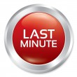 Last minute button. Sale red round sticker. — Stock Photo