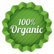 Organic food label, tag. Ecological green sticker. — Stock Photo