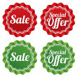 Stock Photo: Special offer price tags templates set.