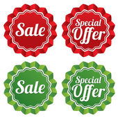 Special offer price tags templates set. — Stock Photo