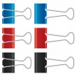 Binder clips set. Paper clips collection. — Stock Photo