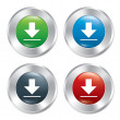 Metallic download buttons template set. — Photo
