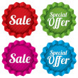 Stock Photo: Sale and Special offer price tags set.