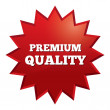 Stock Photo: Premium quality star. Special offer tag.
