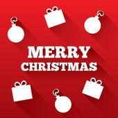 Boże narodzenie kartkę z życzeniami. wesołych świąt bożego narodzenia płaskie ikona — Zdjęcie stockowe