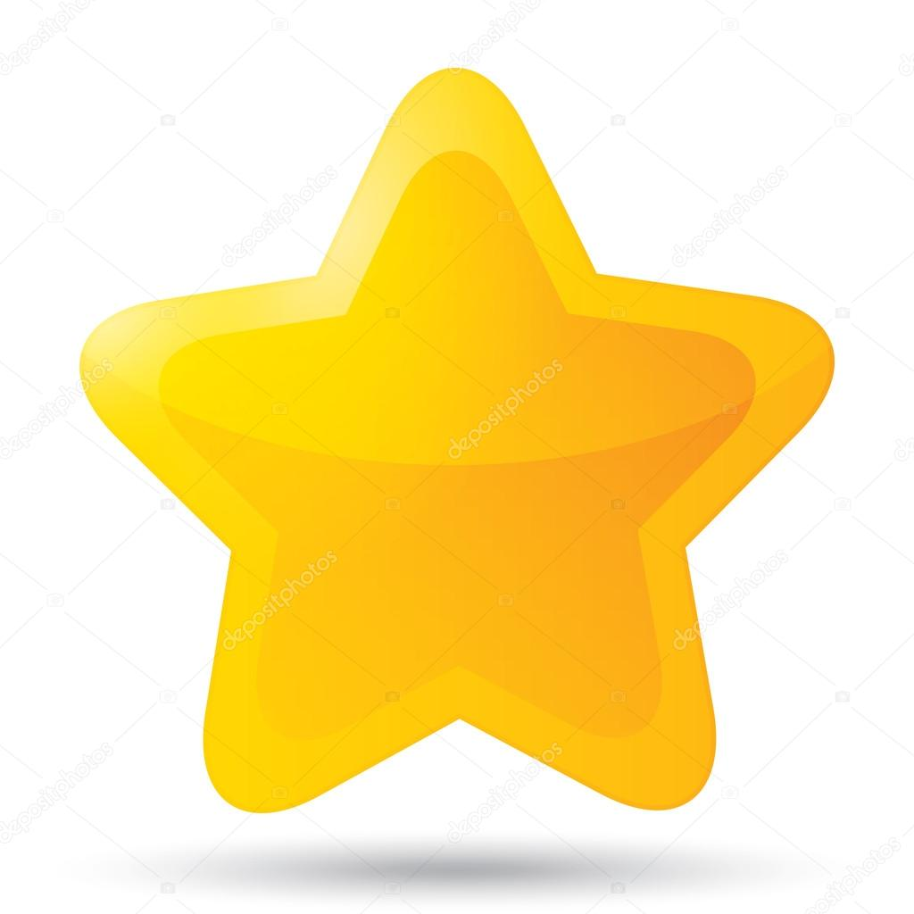 Golden star icon for rating on white background. — Stock Photo © Blankstock #34720817