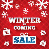 Winter is coming sale background. Christmas sale. — Stock Vector