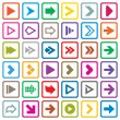 Arrow sign icon set. Internet buttons on white — Stock Vector #34816387