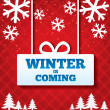 Winter is coming sale background. — Stock Vector
