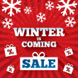 Winter is coming sale background. — Stock vektor