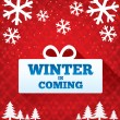 Stock Photo: Winter is coming sale background. Christmas sale.