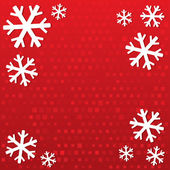 Merry Christmas background with snowflakes. — Stock Photo