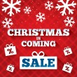 Christmas is coming sale background. — Stock Photo