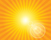 Sun Sunburst Pattern with lens flare. — Stock Vector