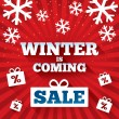 Stock Photo: Winter is coming sale background.