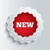 New glass star button. Special offer icon. — Stock Photo