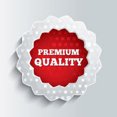 Premium quality glass star button. — Stock Photo