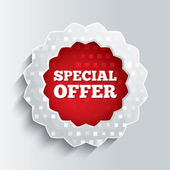 Special offer glass star button. — Stock Photo