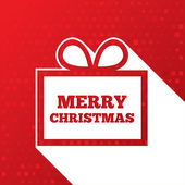 Christmas greetings card. Christmas paper gift box — 图库照片