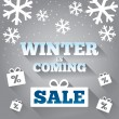 Winter is coming sale background. Merry Christmas. — Stock Photo #35706073