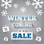 Winter is coming sale background. Merry Christmas. — Foto de Stock