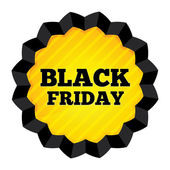 Black Friday Sale label on white background. — Stock Vector