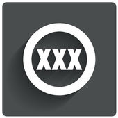 XXX icon. Adults only content sign. Vector. — Vector de stock
