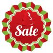 Christmas sale, special offer label. Paper tree. — Stock Photo #36933957