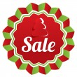 Christmas sale, special offer label. Paper tree. — Stock Photo
