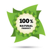 Eco icon green leaf vector. Natural bio food. — Stock Photo